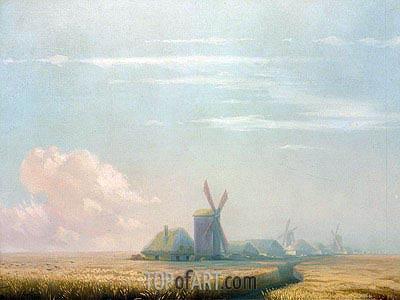 Ukrainian Harvest, 1857 | Aivazovsky | Painting Reproduction
