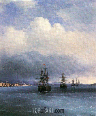 The Ottoman Fleet, 1873 | Aivazovsky | Painting Reproduction