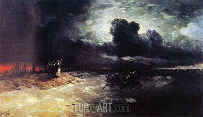 The Crossing of the Red Sea, 1892 | Aivazovsky | Painting Reproduction