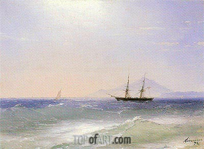 View of Ischia, 1874 | Aivazovsky | Painting Reproduction