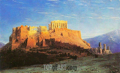 The Acropolis in Athens, undated | Aivazovsky | Painting Reproduction