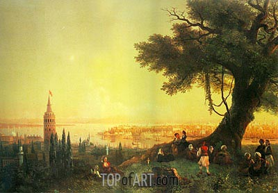 Constantinople, Galata and the Golden Horn, 1846 | Aivazovsky | Painting Reproduction
