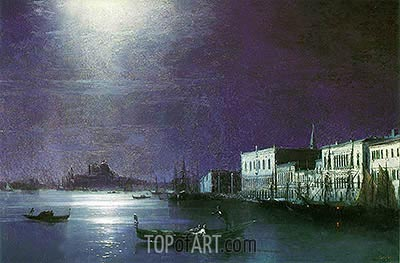 Venice by Night, 1886 | Aivazovsky | Painting Reproduction