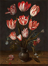 Tulips in a Vase, c.1610 by Jacob van Hulsdonck | Painting Reproduction