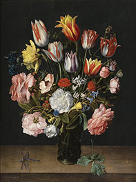 A Still Life of Tulips, c.1615 by Jacob van Hulsdonck | Painting Reproduction