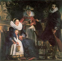The Artist and his Family, c.1621/22 by Jacob Jordaens | Painting Reproduction