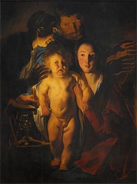 The Holy Family, Undated von Jacob Jordaens | Gemälde-Reproduktion