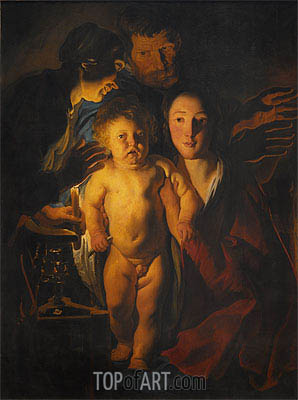 The Holy Family, Undated   Jacob Jordaens   Painting Reproduction
