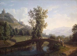 View of Montesarchio, 1791 von Philippe Hackert | Gemälde-Reproduktion
