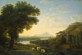 Italian Landscape, 1795 by Philippe Hackert | Painting Reproduction