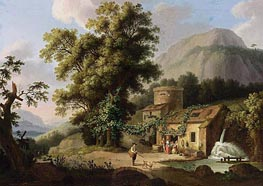 View of the Copper-Mill in Vietri, c.1773 von Philippe Hackert | Gemälde-Reproduktion