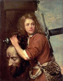 David Bearing the Head of Goliath, 1643 by Jacob van Oost | Painting Reproduction
