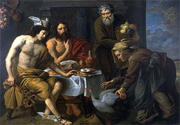 Mercury and Jupiter in the House of Philemon and Baucis | Jacob van Oost | Painting Reproduction