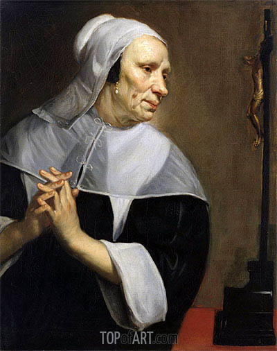 Old Woman Praying, undated | Jacob van Oost | Painting Reproduction