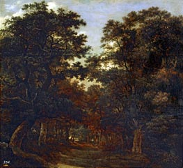 Forest Wood, undated by Ruisdael | Painting Reproduction