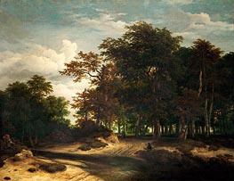 The Big Forest, c.1655/60 by Ruisdael | Painting Reproduction