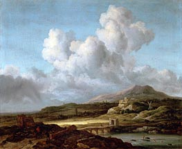 The Sunbeam, undated by Ruisdael | Painting Reproduction