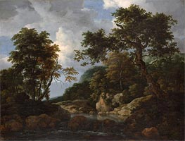 The Forest Stream, c.1660 by Ruisdael | Painting Reproduction