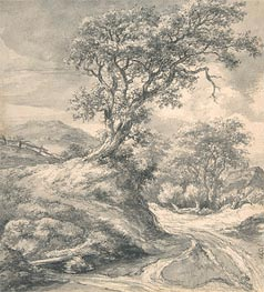 Dune Landscape with Oak Tree | Ruisdael | Painting Reproduction