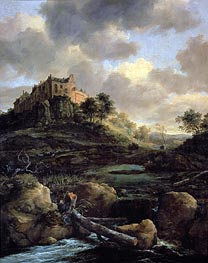Bentheim Castle, 1653 by Ruisdael | Painting Reproduction
