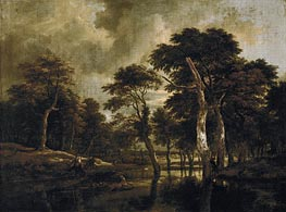 The Hunt, c.1665/70 by Ruisdael | Painting Reproduction