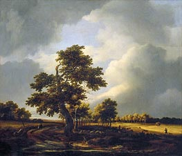 Landscape with Shepherds and Peasants (After the Storm) | Ruisdael | Painting Reproduction