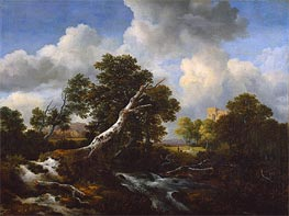 Landscape with a Dead Tree | Ruisdael | Painting Reproduction