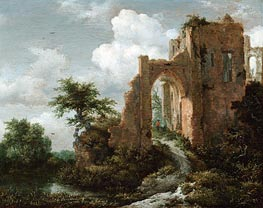 Entrance Gate of the Castle of Brederode | Ruisdael | Painting Reproduction