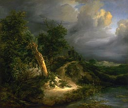 Storm on the Dunes, undated von Ruisdael | Gemälde-Reproduktion