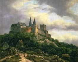 The Castle of Bentheim | Ruisdael | Painting Reproduction