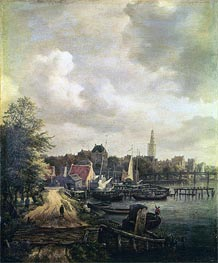 View of Amsterdam | Ruisdael | Gemälde Reproduktion