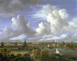 View on the Amstel Looking Towards Amsterdam | Ruisdael | Gemälde Reproduktion
