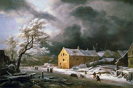 Winter Landscape, c.1670 by Ruisdael | Painting Reproduction