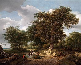 The Great Oak, 1652 von Ruisdael | Gemälde-Reproduktion