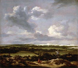 Dune Landscape with a Rabbit Hunt | Ruisdael | Gemälde Reproduktion