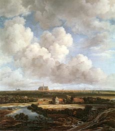 Bleaching Ground in the Countryside near Haarlem | Ruisdael | Gemälde Reproduktion
