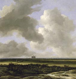 Panoramic View of Haarlem, c.1670 by Ruisdael | Painting Reproduction