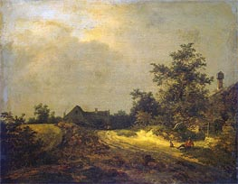 Peasant Cottages in Dunes, 1647 von Ruisdael | Gemälde-Reproduktion