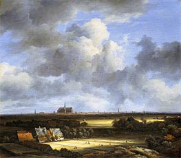 View of Haarlem with Bleaching Grounds, c.1670/75 von Ruisdael | Gemälde-Reproduktion