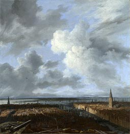 A Panoramic View of Amsterdam looking towards the IJ, c.1665/70 von Ruisdael | Gemälde-Reproduktion