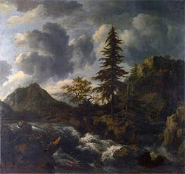 A Torrent in a Mountainous Landscape, c.1665/70 von Ruisdael | Gemälde-Reproduktion