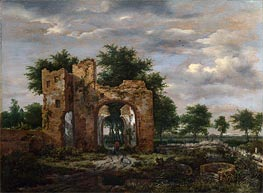A Ruined Castle Gateway, c.1650/55 von Ruisdael | Gemälde-Reproduktion