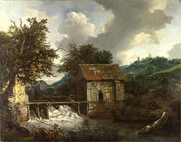 Two Watermills and an Open Sluice at Singraven, c.1650/52 von Ruisdael | Gemälde-Reproduktion