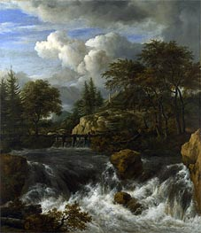 A Waterfall in a Rocky Landscape | Ruisdael | Gemälde Reproduktion