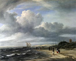 The Shore at Egmond-aan-Zee, c.1675 von Ruisdael | Gemälde-Reproduktion