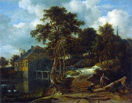 Landscape with Watermill | Ruisdael | Painting Reproduction