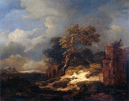 Landscape with Ruins | Ruisdael | Painting Reproduction