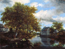 The Great Pool | Ruisdael | Painting Reproduction