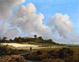 View of Grainfields with a Distant Town | Ruisdael | Gemälde Reproduktion
