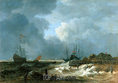 The Storm, undated | Ruisdael | Gemälde Reproduktion